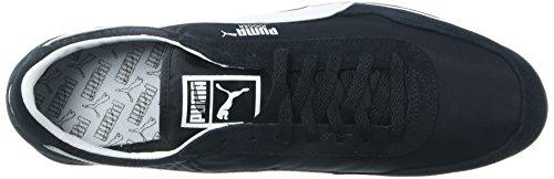 PUMA Mens Jogger OG Sneaker, Black White, 11 M US