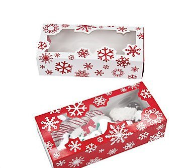 Share Your Special Christmas Treats in These 12 Holiday Snowflake Bakery Boxes. (Holiday Treat Containers compare prices)