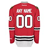 Chicago Blackhawks Home Official Reebok NHL Hockey Jersey - Any Name / Number Customized