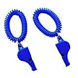 Dovewill 2 Pack Safety Whistle with Wristband for Boating Camping Hiking Hunting Emergency Survival Rescue Signaling