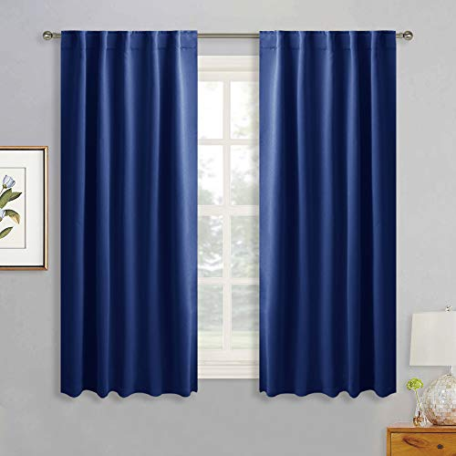 RYB HOME Room Darkening Window Curtains for Living Room Decor, Insulated Drapes for Kitchen/Baby Nursery/Bedroom, Curtains with Back Tab & Rod Pocket Top, W 42