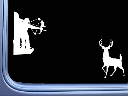 Bowhunter Deer (Bowhunter Deer J899 2-6 inch Decals stickers arrow treestand)