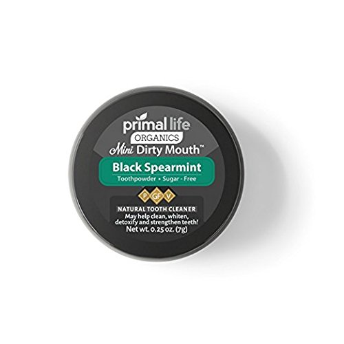 Activated Charcoal Powder Dirty Mouth Black Spearmint MINI BEST All Natural Charcoal Toothpaste - Gently Polishes, Whitening, Detoxifies, ReMineralize and Strengthens