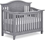 Evolur Fairbanks 5 in 1 Convertible Crib, Storm Grey