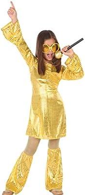 Atosa-56902 Disfraz Disco, Color Dorado, 7 a 9 años (56902 ...