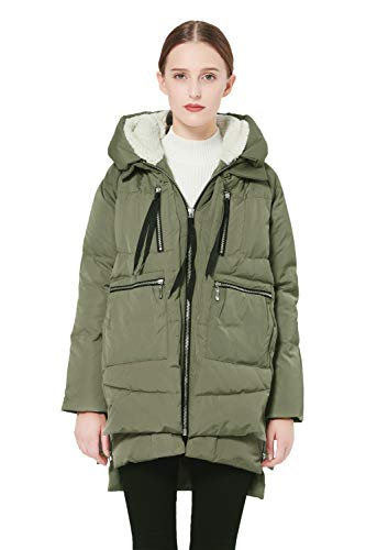 (Orolay Women's Thickened Down Jacket Green)