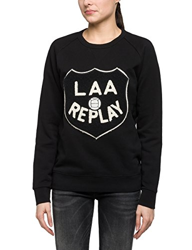black Felpa 98 Replay Nero Donna qHfXwxwBt