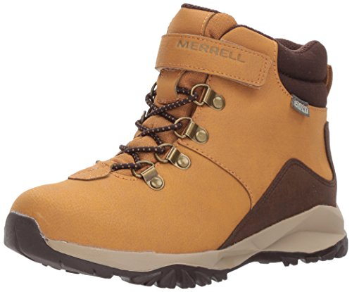 Alpine 2 Shoe (Merrell Boys' Alpine Casual WTRPF Hiking Boot, Brown, 2 Wide US Little Kid)