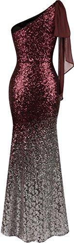 ruban Femme Rouge Angel Asymetrique robe Sequin Vin longue progressive Mermaid fashions 5SxTxvt