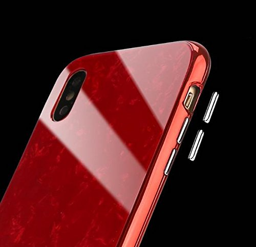 iPhone 8 Magnetic Absorption Shcokproof Case,Aulzaju iPhone 7 Full Body Front Back Cover with Tempered Glass Screen Protector Cover for iPhone 8/7 Beauty Mirror Shell Design-Pink by Aulzaju (Image #4)