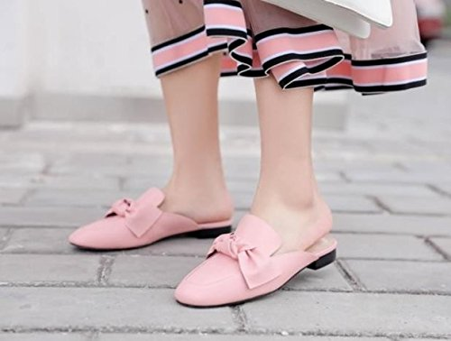 fondo filtro rosa Il Donna Bow Sandali piatto cm Baotou 37 AJUNR Da 2 pantofole Moda Alla Tie 74CA1q