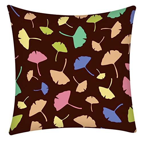 QBQCBB Print Pillow Case Polyester Sofa Car Cushion Cover Home Decor 45 X 45cm(F)