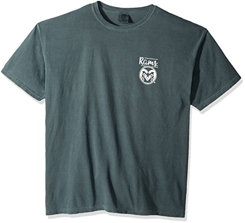 NCAA Colorado State Rams Adult Unisex NCAA Sketchbook Comfort Color Short sleeve T-Shirt, X-Large,Willow