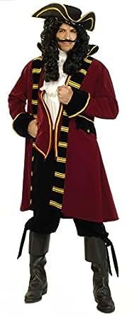 Forum Designer Deluxe Pirate Captain Costume, Multi, Small