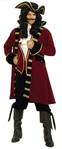 Forum Designer Deluxe Pirate Captain Costume, Multi, Medium