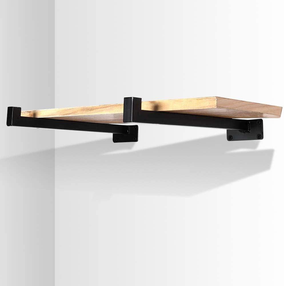 2 soportes de estanter/ía industrial para pared retro Soporte de estante de pared de metal 25 cm