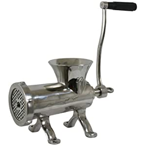 Sportsman SM07529 #22 Stainless Steel Countertop Bolt Down Manual Meat Grinder