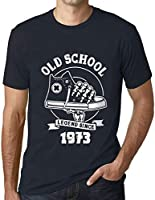Hombre Camiseta Vintage T-Shirt Gráfico Old School All Star Since 1973 Cumpleaños de 48 años Marine
