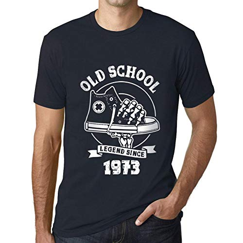 Men's Vintage Tee Shirt Graphic T Shirt Old School All Star Since 1973 Navy