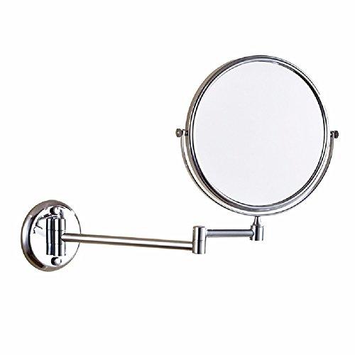 HQLCX All Copper Folding Beauty Mirror 8 Inch European Style Gold Bath - Antique Mirrors Bathroom Retractable Style