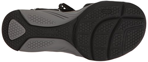 CLARKS Women's Wave Grip Black Synthetic Sandal (7.5 D US) HFNe3w0hc