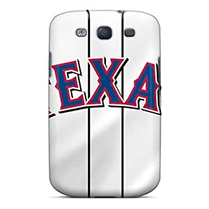 Durable Hard Cell-phone Cases For Samsung Galaxy S3 With Customized HD Texas Rangers Pattern JoanneOickle
