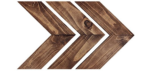 Kane & Co Rustic Wood Chevron Arrow Home Decor | Modern Country Farmhouse Accents | Set of 3 (Dark Walnut) - RUSTIC CHARM: Add warmth and character to any room in the house. These chevron arrows (set of 3) will give your living space a touch of that modern farmhouse feel. A great way to liven up a blank space and the perfect addition to a gallery wall. HANG IN MINUTES: Command Strips make hanging your chevron arrows a breeze. Quick and easy, with no damage to your walls from nails or screws. (Strips and instructions included). USA MADE: Solid pine wood arrow decor made in America. Hand picked and handmade, from the cuts stain with a sanded smooth finish. - living-room-decor, living-room, home-decor - 41plfSEBDsL -