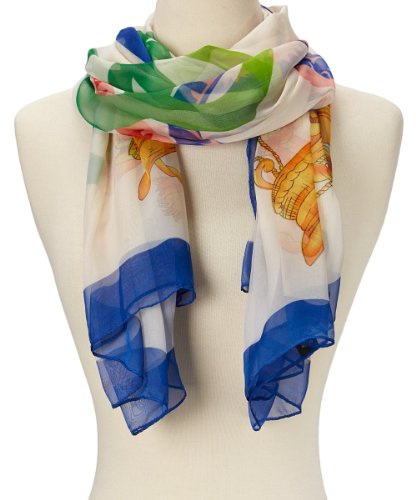 Abstract Sheer Scarf (Cream Abstract)