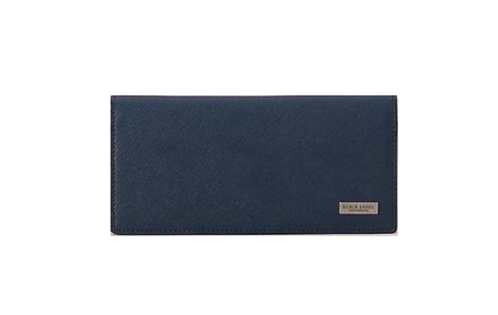 ブラックレーベル クレストブリッチ メンズ 財布 長財布 プリムレザーロング バーバリー ライセンス商品 (ブラック) B07CGM1432 カラーエンボス ネイビー カラーエンボス ネイビー