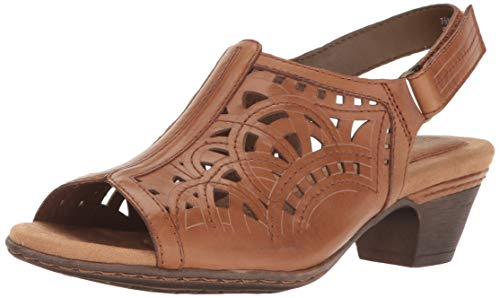 - Cobb Hill Women's Abbott HI Vamp Sling Sandal, Tan Leather, 080 M US
