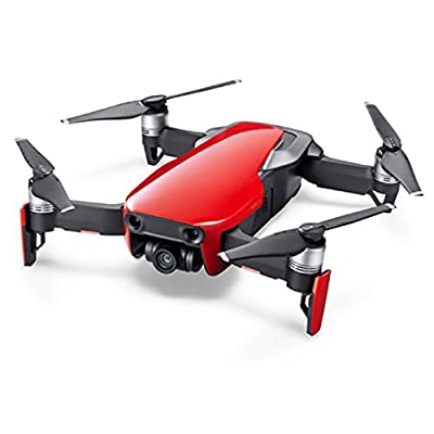 DJI Mavic Air Quadcopter Drone - Flame Red Fly More Combo Copilot Bundle with DJI Copilot BOSS Computer-Free in-Field Direct 2TB Backup and Power Bank and Custom Mavic Hard Shell Backpack