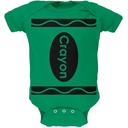 Month 06 Halloween Costumes (Green Crayon Costume Green Soft Baby One Piece - 3-6)