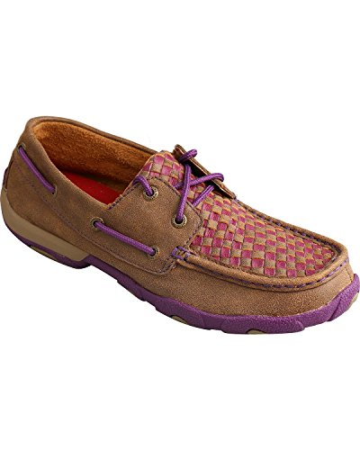 Bomber Shoes Checked Womens Purple X Up Brown Twisted WDM0025 Lace Casual 0xpUUA