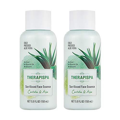 ([THERAPISPA] Lightweight Sun-Kissed Hydrating Face Essence Centella & Aloe Vera, 5 oz)