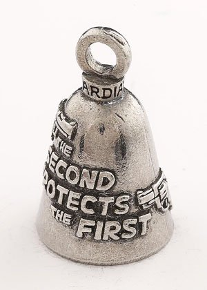 Guardian/® Bell Second Amendment Protects The First with Custom Gift Box Harley Biker Bell Ride to Live