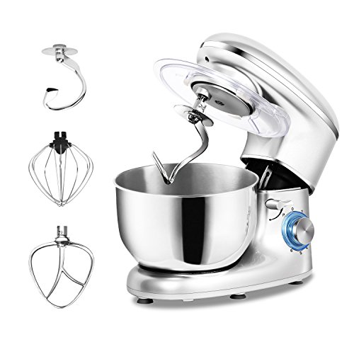 - POSAME Professional Stand Mixers 660W 6 Speeds 5.5Qt Mixing Stainless Steel Bowl Tilt Head Electric Kitchen Food Mixer Dough Kneading Machine with Dough Hook, Whisk, Beater, Pouring Shield - Silver