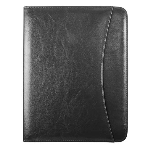 Travigo Administrative Portfolio | Simulated Leather | Transparent I.D Slot | Pen Loop| Internal Card Holders | Front Pocket | 8.5