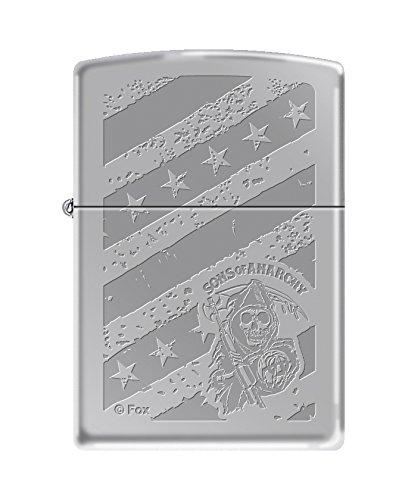 Zippo Sons of Anarchy Stars and Stripes High Polish Chrome Pocket Lighter ()