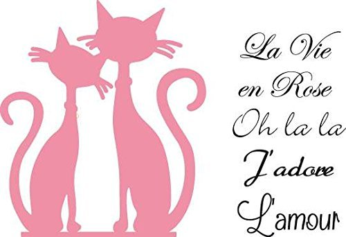 Marianne Design French Cats Collectables Die, Pink by Marianne Design