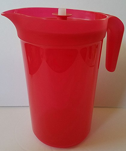 Tupperware Classic Sheer 1 Gallon Pitcher in Starlight Lipstick with Infuser Insert ()