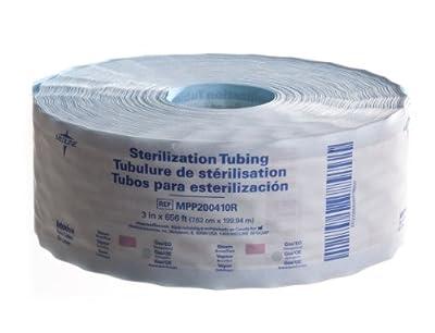 "Medline MPP200410R Instrument Sterilization Tubing/Roll, 3"" x 656'"