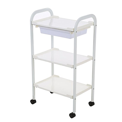 Price comparison product image Anself Salon Trolley Barber Cart Hair Rolling Cart 3 Layers Storage Tray Cart
