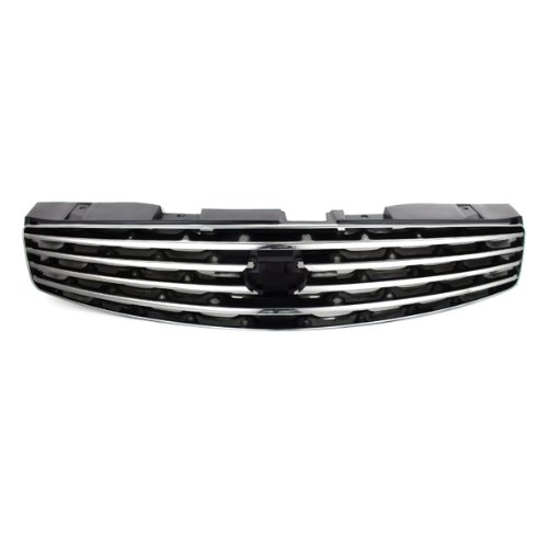 CarPartsDepot, Front Grille Grill Chrome Frame Painted Black Grid, 400-231283 IN1200107 62070AM800 (Infiniti G35 Grill)