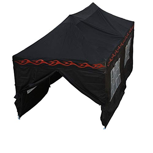 Delta 10'x20' Pop up 6 Walls Canopy Party Tent Gazebo Ez Black Flame - F Model Upgraded Frame Canopies