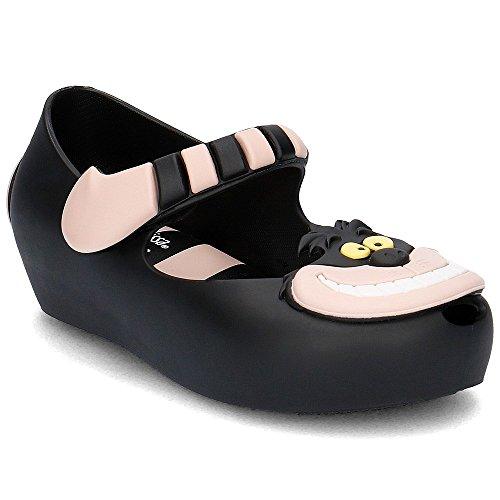 Melissa Mini niños Ultragirl sandalias de gato de Cheshire de Alicia en negro Black