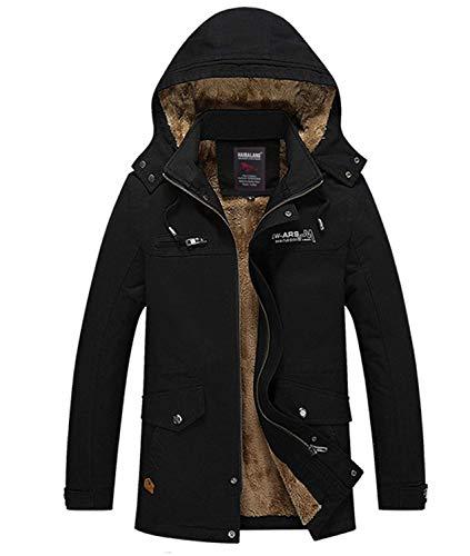 Invernale Giacca O Da Classiche Cappuccio Autunno Uomo Il In Ragazzi Schwarz Tempo Con Libero Cotone Cappotto inverno Spessa Per dxxOrw