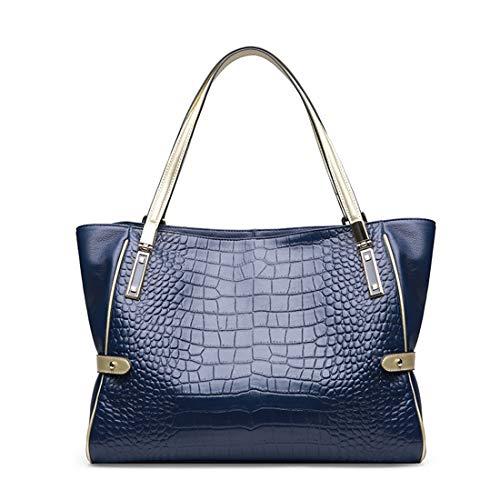 Las Blue Señoras Cintura Bolsa Bolso Personalidad Simple Momia Navy color De Orange Cocodrilo Cuero Igspfbjn wtpEg6q6