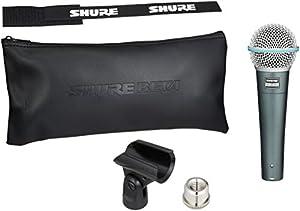 Shure BETA 58A Supercardioid Dynamic Microphone with High Output Neodymium...