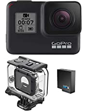 $259 » GoPro HERO7 Black + Extra Battery + Super Suit Dive Housing Case - E-Commerce Packaging - Waterproof Digital Action Camera with Touch Screen 4K HD Video 12MP Photos Live Streaming Stabilization