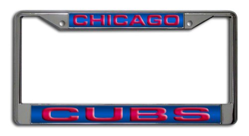 MLB Chicago Cubs Laser-Cut Chrome Auto License Plate Frame